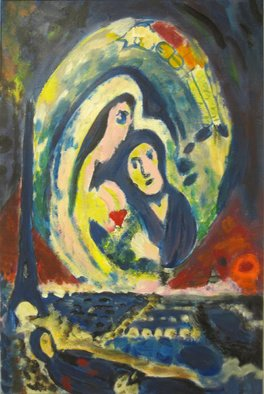 Céu Franco Artwork Chagall I, 2011 Acrylic Painting, Love