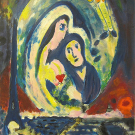 C�u Franco Artwork Chagall I, 2011 Acrylic Painting, Love