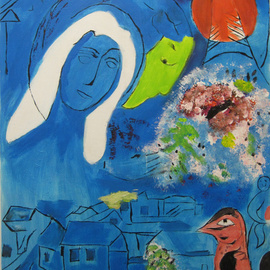 C�u Franco Artwork Chagall II, 2011 Acrylic Painting, Love