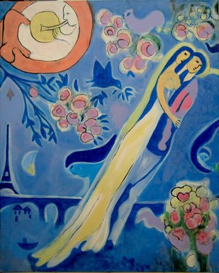 Céu Franco Artwork Chagall III, 2011 Acrylic Painting, Love