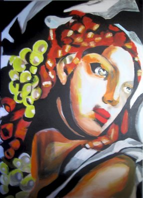 Céu Franco Artwork Lempicka, 2011 Acrylic Painting, Figurative