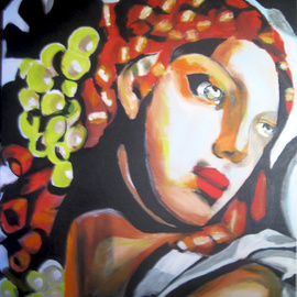 C�u Franco Artwork Lempicka, 2011 Acrylic Painting, Figurative