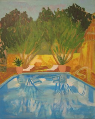 Céu Franco Artwork Piscina, 2011 Acrylic Painting, Trees