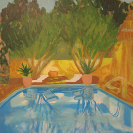 C�u Franco Artwork Piscina, 2011 Acrylic Painting, Trees