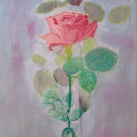C�u Franco Artwork Rosa, 2012 Acrylic Painting, Floral