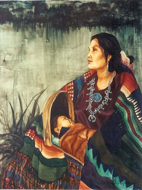 Christine Lytwynczuk  'Navajo Moses', created in 2000, Original Painting Other.