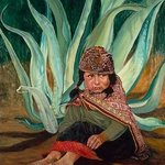 Peruvian girl with agave By Christine Lytwynczuk