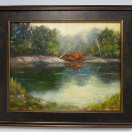 Dennis Chadra: 'Michigan Pond', 2011 Oil Painting, Seascape. Artist Description:  Michigan Pond, Seascape, Oil, Canvas, Linen,              ...