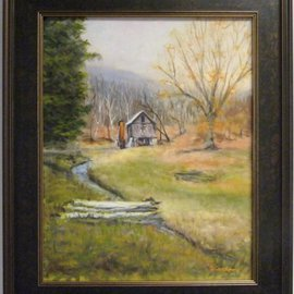 Dennis Chadra: 'Old Francis Grist Mill', 2011 Oil Painting, Still Life. Artist Description:  Old Francis, Grist Mill, Landscape, Oil on Linen,          ...