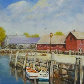 Dennis Chadra: 'Two of a Kind', 2011 Oil Painting, Seascape. Artist Description:  Two of a Kind, Rockport, MA, Seascape, Oil, Panel,               ...