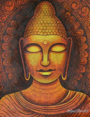 Chandru Hiremath: 'buddha-csh0010', 2014 Acrylic Painting, Buddhism. Artist Description: Buddha...