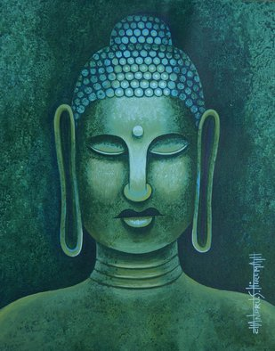Chandru Hiremath: 'buddha-csh008', 2014 Acrylic Painting, Buddhism. Artist Description: Buddha...