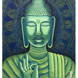 Chandru Hiremath: 'buddha-csh01', 2012 Acrylic Painting, Buddhism. Artist Description: Buddha...
