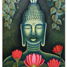 Chandru Hiremath: 'buddha-csh02', 2012 Acrylic Painting, Buddhism. Artist Description: Buddha...