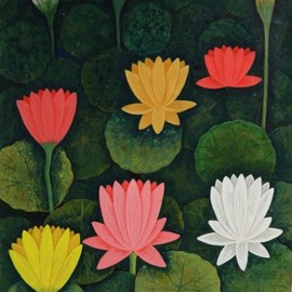 Chandru Hiremath: 'lotuscsh0016', 2016 Acrylic Painting, Floral. Artist Description: Lotus...