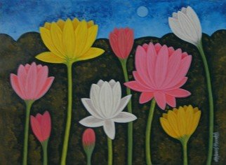 Chandru Hiremath: 'lotuscsh0021', 2016 Acrylic Painting, Floral. Artist Description: Lotus...