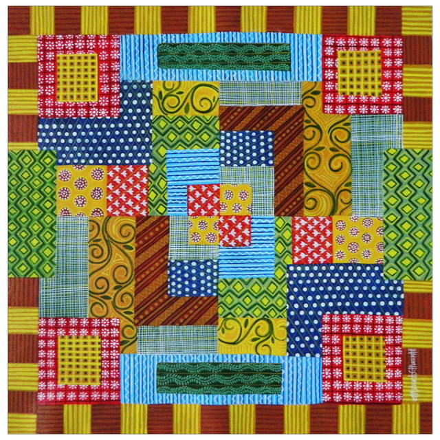 Chandru Hiremath  'My Babies Quilt - B', created in 2016, Original Painting Acrylic.