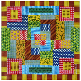 Chandru Hiremath: 'my babies quilt - b', 2016 Acrylic Painting, Fashion. Artist Description: Babies Quilt...