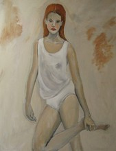 - artwork Foothold-1257450259.jpg - 2009, Painting Oil, Figurative