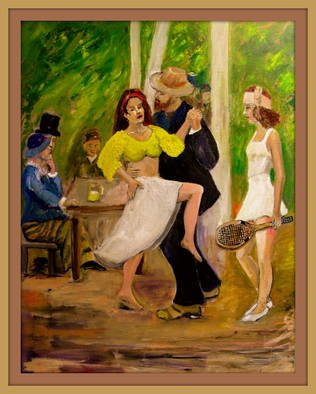 Charles Hanson Artwork  DANCE  by Renoir reconfigured, 2015 Oil Painting, Figurative