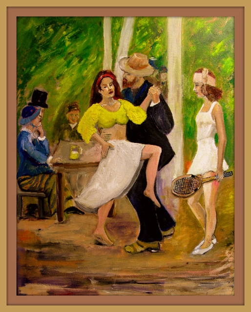 Charles Hanson  ' DANCE  By Renoir Reconfigured', created in 2015, Original Painting Oil.