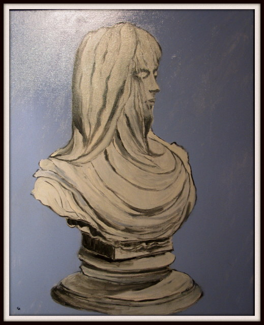 Charles Hanson  'Mystery Of The Floating Bust', created in 2015, Original Painting Oil.