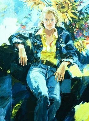 Doyle Chappell  'Ann ', created in 1974, Original Painting Oil.