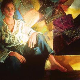 Doyle Chappell Artwork Barbara, 1972 Collage, Portrait