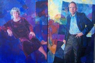 Acrylic Painting by Doyle Chappell titled: Jeff and Joy Young, 2009