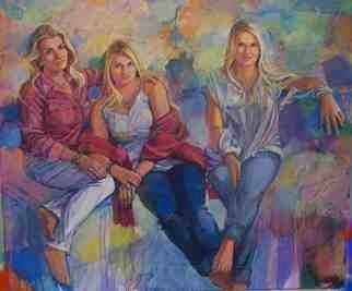 Acrylic Painting by Doyle Chappell titled: Lea, Christian and Lea Lea Bender, 2014