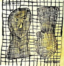 - artwork 0721_TWO_MORE_HEADS_IN_BLACK_AND_WHITE-1267262719.jpg - 1995, Painting Oil, Figurative