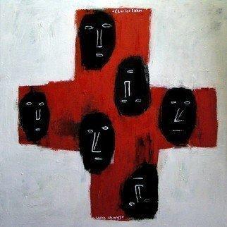 Artist: Charles Cham - Title: 1672 THE CROSS I - Medium: Oil Painting - Year: 2005