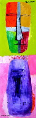 Artist: Charles Cham - Title: 2197 SPLIT PERSONALITIES - Medium: Oil Painting - Year: 2014