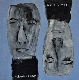 Charles Cham: '2557 SNOB COUPLE', 2018 Oil Painting, Life. Artist Description: aEURoeI believe that drawing is thinking and painting is feeling.  Therefore, I draw what I think and paint what I feel.  aEURoeCharles CHAM s works are based on the philosophy of Yin and Yang - the duality of life and the attraction of opposites.  The Yin and Yang paintings ...