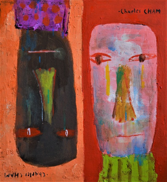 Artist Charles Cham. '2645 Pastel Face' Artwork Image, Created in 2019, Original Poster. #art #artist