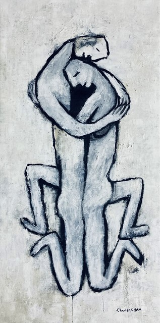 Charles Cham  '2781 LOVERS Two Legs Up', created in 2020, Original Printmaking Giclee.