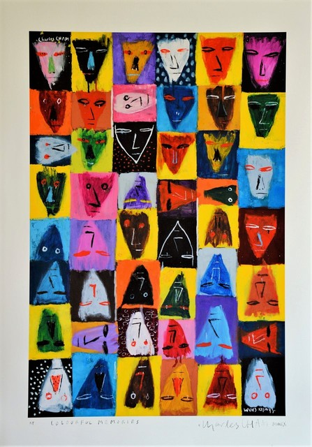 Charles Cham  'COLOURFUL MEMORIES ', created in 2020, Original Printmaking Giclee.