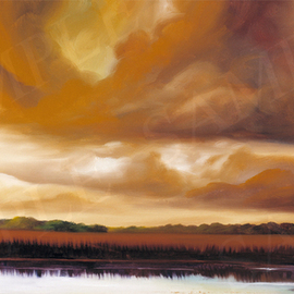 James Christopher Hill Artwork Jetties I, 2005 Oil Painting, Landscape