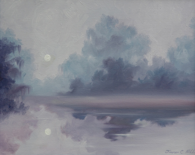 James Hill  'Mystical Moonlight', created in 2009, Original Painting Acrylic.