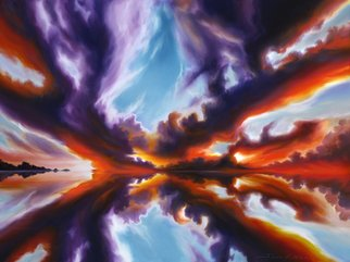 James Christopher Hill Artwork Reflections of the Mind, 2009 Oil Painting, Sky