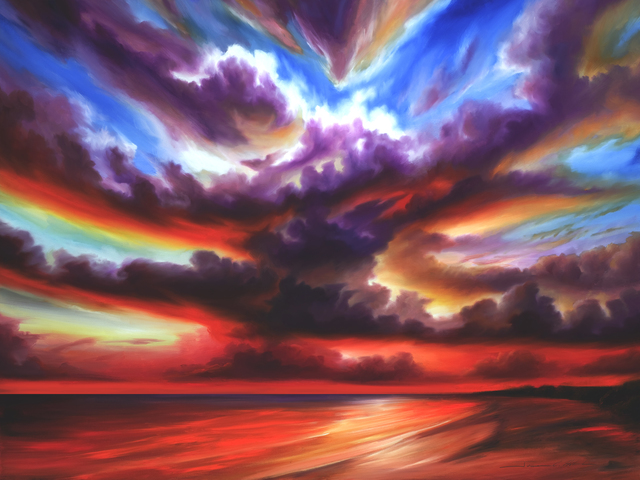 James Christopher Hill: Skyburst , 2010 Oil Painting