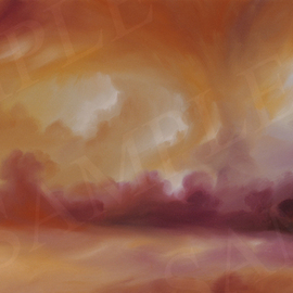James Christopher Hill Artwork Storm Clouds II, 2006 Oil Painting, Sky