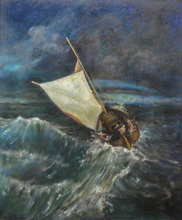 - artwork christ_on_the_sea-1221675511.jpg - 2008, Painting Oil, Figurative