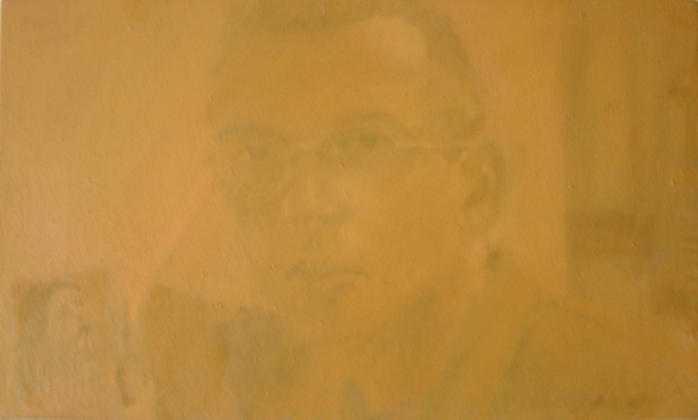 Charles Wesley  'Charles: Self Portrait: Yellow', created in 1998, Original Painting Acrylic.