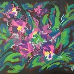 abstract orchids By Charlotte  Reber