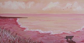 Charlene Richards: 'Longing', 2007 Acrylic Painting, Seascape.  Dream- like musing.  ...