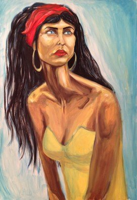 Artist: Chen Bachar - Title: Gipsy - Medium: Oil Painting - Year: 2015