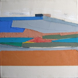 Maria Chiara Di Domenico Artwork oltreterra vision 1, 2008 Mixed Media, Abstract Landscape