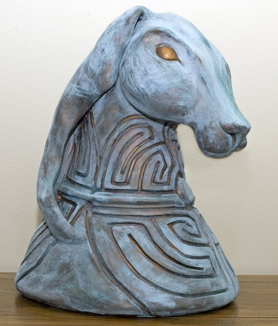 Carrie Chimenti  'Guardian Of Rebirth', created in 2010, Original Ceramics Handbuilt.