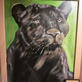 Chris Cooper Artwork Panther, 2014 Acrylic Painting, Animals